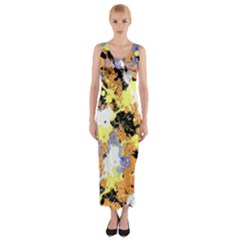 Abstract #10 Fitted Maxi Dress