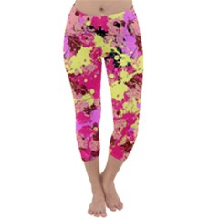 Abstract #11 Capri Winter Leggings