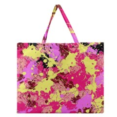 Abstract #11 Zipper Large Tote Bag
