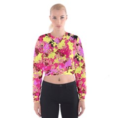 Abstract #11 Women s Cropped Sweatshirt
