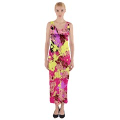 Abstract #11 Fitted Maxi Dress