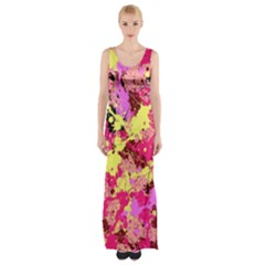 Abstract #11 Maxi Thigh Split Dress