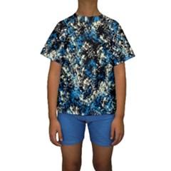 Abstract #15 Kid s Short Sleeve Swimwear