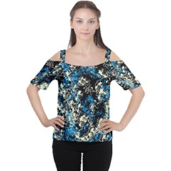 Abstract #15 Women s Cutout Shoulder Tee