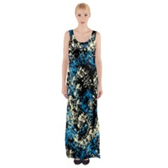 Abstract #15 Maxi Thigh Split Dress