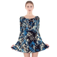 Abstract #15 Long Sleeve Velvet Skater Dress