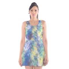 Abstract #17 Scoop Neck Skater Dress