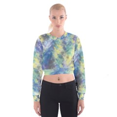 Abstract #17 Women s Cropped Sweatshirt