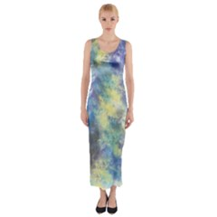 Abstract #17 Fitted Maxi Dress