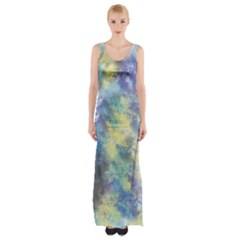 Abstract #17 Maxi Thigh Split Dress