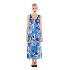 Abstract Floral Full Print Maxi Dress