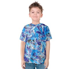 Abstract Floral Kid s Cotton Tee