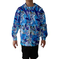 Abstract Floral Hooded Wind Breaker (Kids)
