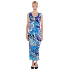 Abstract Floral Fitted Maxi Dress