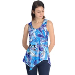 Abstract Floral Sleeveless Tunic