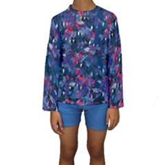 Abstract Floral #3 Kid s Long Sleeve Swimwear