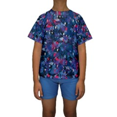 Abstract Floral #3 Kid s Short Sleeve Swimwear