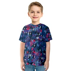 Abstract Floral #3 Kid s Sport Mesh Tee
