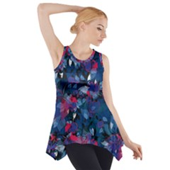 Abstract Floral #3 Side Drop Tank Tunic