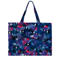 Abstract Floral #3 Zipper Large Tote Bag