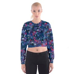 Abstract Floral #3 Women s Cropped Sweatshirt