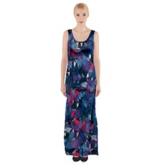 Abstract Floral #3 Maxi Thigh Split Dress