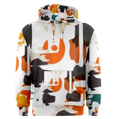 Shapes In Retro Colors On A White Background Men s Pullover Hoodie