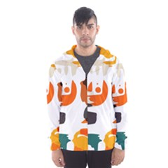 Shapes in retro colors on a white background Mesh Lined Wind Breaker (Men)