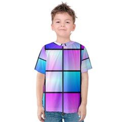 Gradient squares pattern  Kid s Cotton Tee
