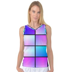 Gradient Squares Pattern  Women s Basketball Tank Top