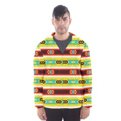 Rhombus stripes and other shapes Mesh Lined Wind Breaker (Men)