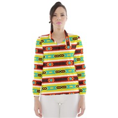 Rhombus Stripes And Other Shapes Wind Breaker (women)