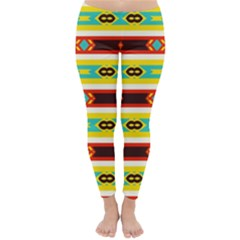 Rhombus Stripes And Other Shapes Winter Leggings