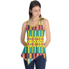 Shapes and stripes  Sleeveless Tunic