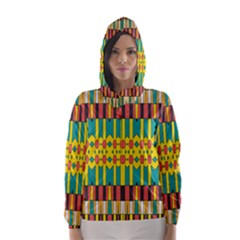 Shapes and stripes  Hooded Wind Breaker (Women)