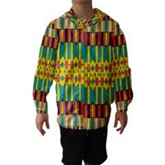 Shapes And Stripes  Hooded Wind Breaker (kids)