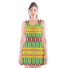 Shapes and stripes  Scoop Neck Skater Dress