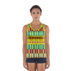 Shapes and stripes  Women s Sport Tank Top
