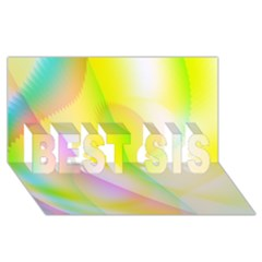 New 5 Best Sis 3d Greeting Card (8x4)