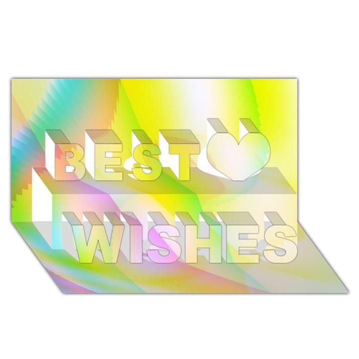 New 5 Best Wish 3D Greeting Card (8x4)