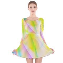 New 5 Long Sleeve Velvet Skater Dress