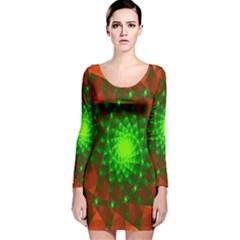 New 10 Long Sleeve Velvet Bodycon Dress