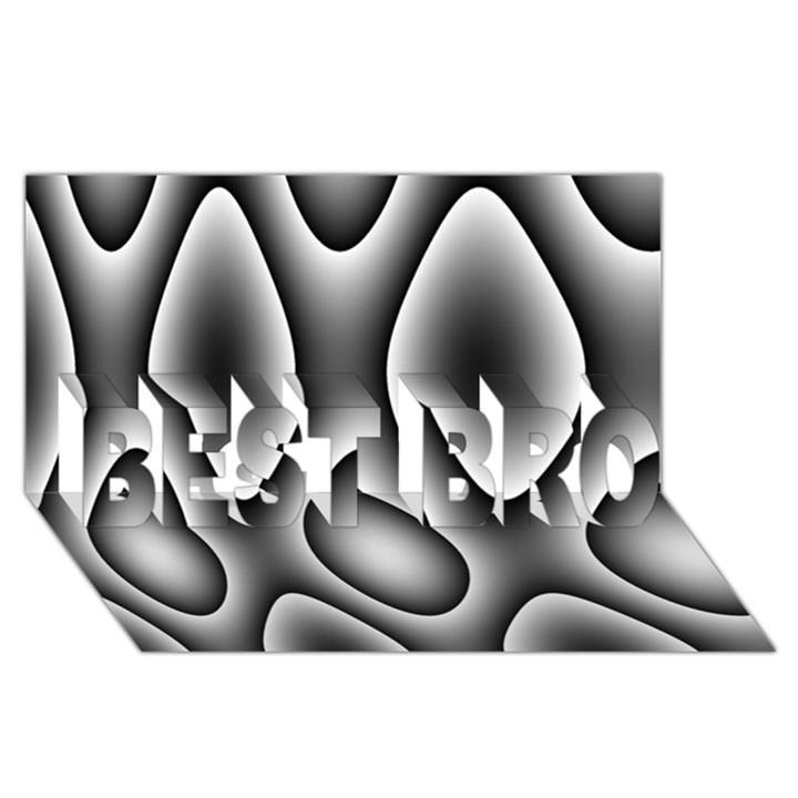 New 11 BEST BRO 3D Greeting Card (8x4)