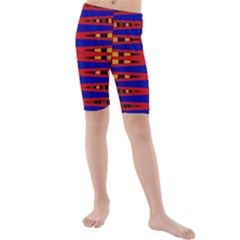 Bright Blue Red Yellow Mod Abstract Kid s Mid Length Swim Shorts
