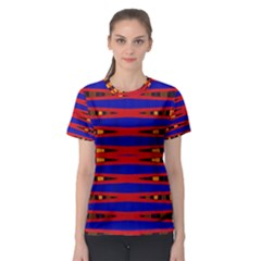 Bright Blue Red Yellow Mod Abstract Women s Sport Mesh Tee