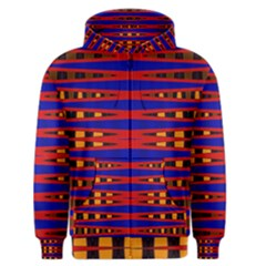 Bright Blue Red Yellow Mod Abstract Men s Zipper Hoodie
