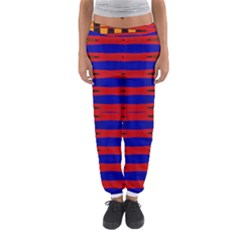 Bright Blue Red Yellow Mod Abstract Women s Jogger Sweatpants