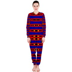 Bright Blue Red Yellow Mod Abstract Onepiece Jumpsuit (ladies)