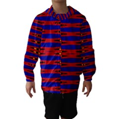Bright Blue Red Yellow Mod Abstract Hooded Wind Breaker (kids)