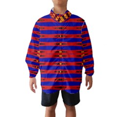 Bright Blue Red Yellow Mod Abstract Wind Breaker (kids)
